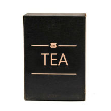 Boîte d'emballage cadeau de thé vert avec estampage de feuille