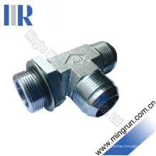 Jic Male / SAE O-Ring Adjustable Tee Adapter Tube Fitting (AJJO - OG)