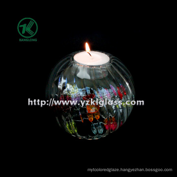 Single Glass Candle Bottle by SGS. BV (8.5*9.5*9.5)