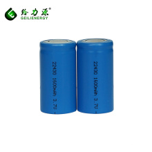Оптовые цены литий-ионная аккумуляторная батарея 3.7 V 1600mah литий-ионный аккумулятор 22430