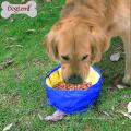 Bacia de alimentação animal dobrável exterior do cão de estimação do curso