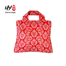 Foldable reusable waterproof nylon shopping grocery bags