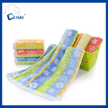 Cotton Flower Yarn Dyed Face Towel (QHF91190)