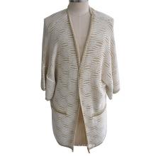 100% algodón Lurex Mujer Cardigan punto