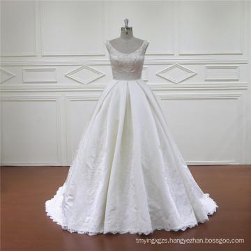 Exquisite Mermaid Lebanon Designer Satin Wedding Gown