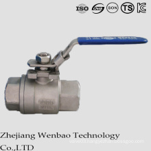 Ein 2PC Medium Temperture Casting Ball Valve with Locking Handle