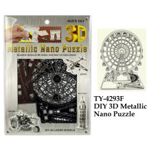 Divertido bricolaje 3d metálicos nano rompecabezas