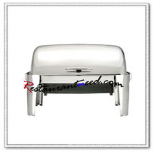 C175 Stainless Steel Roll Top Chafing Dish With Electric Water Pan