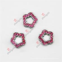 Metal 8mm Crystal Slide Flower Charms for Bracelet Band (SFC51031)