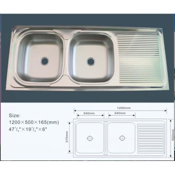 Jnj928 120 * 50 * 16 см дешевая двойная чаша из нержавеющей стали кухонная раковина