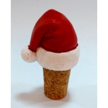 Santa′s Hat Bottle Stopper for Christmas Decoration
