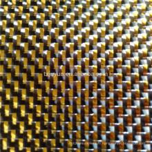 Tissu métallique en fibre de carbone GOLDEN SILVER pour pièces automobiles pièces sport