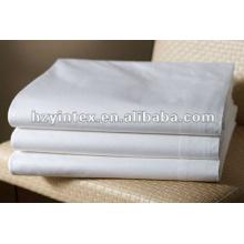 2016 High Thread Star Hotel Snow White Flat Sheet