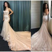 Real Ladies Lace Mermaid Kleidung Kleid Braut Brautkleider Brautkleid