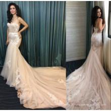 Sereia real do laço das senhoras veste o vestido de casamento nupcial dos vestidos de casamento do vestuário