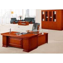 Mesa antiga de escritório com pedestais móveis