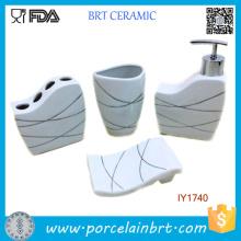 Acessórios cerâmicos do banheiro do jogo do banho 4PCS da vida da forma modernos
