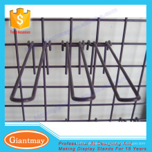 europe style shopping merchandising gridwall wire display hooks