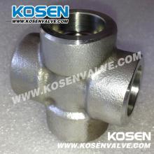 Acier inoxydable Socket Weld Cross (3000LB)