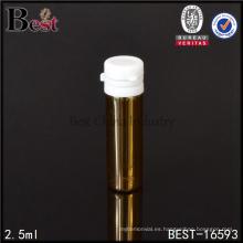 2,5 ml de viales de vidrio farmacéuticos ámbar tipo