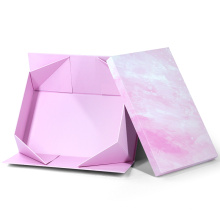 Custom Logo Collapsible Magnetic Folding Rigid Paper Foldable Gift Box