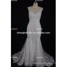 Sexy Sweetheart Full Back china Custom Made Appliques Fish Style Wedding Dress