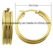 Shineme joyería de alta calidad de acero inoxidable recubrimiento de oro pendiente (ERS6973)