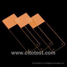 Portaobjetos de microscopio de colores