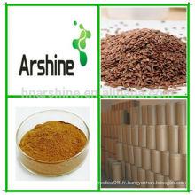 Extrait de coque de lin, poudre d'extrait de lin, extrait de graines de lin de pure lin naturel pur