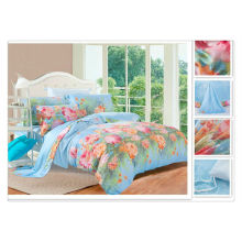 40*40s 133*72 reactive printing Purebest flower printed tencel bedding set