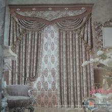 2015 Alta calidad y venta caliente real últimas telas del hotel de lujo para las cortinas