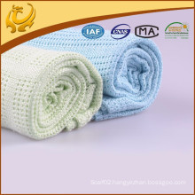 Natural Material Bamboo Fiber Woven Wholesale Thread Blanket For Baby