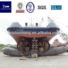 plataforma inflable de goma para barcos