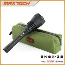 O diodo emissor de luz de Maxtoch SN6X-2S XML2 1200 lúmens dispara por muito tempo a tocha da lanterna elétrica