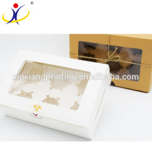 Inserciones personalizadas baratas de encargo de las cajas de la magdalena del color, caja dulce de empaquetado de encargo, insignia del cliente