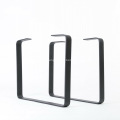 Metal black powder coating dining table leg