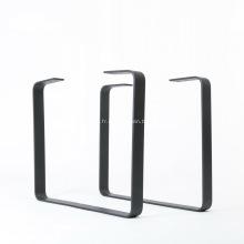 Pied de table à manger en revêtement en poudre métallique noir