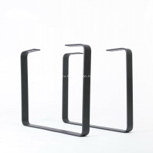 Ножка обеденного стола с металлическим порошковым покрытием черного цвета