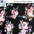 Beautiful woven floral printed satin fabric