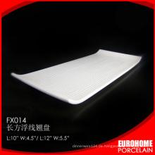 Großhandel-Abendessen Keramik Porzellan rechteckiges Tablett