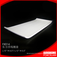 wholesale dinner ceramic porcelain rectangular serving tray