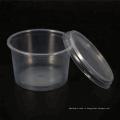 ПП прозрачные круглые одноразовые пластиковые микроволновые контейнеры для упаковки пищевых продуктов