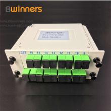Plc Fiber Optic Splitter With 1X16 Sc/Apc Green Connector
