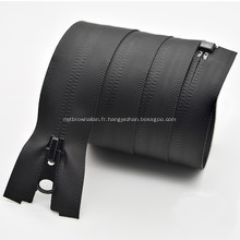 Fermeture à glissière en nylon en métal imperméable faite sur commande pour le sac