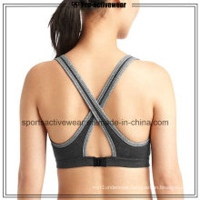 OEM New Design Fashion Women Push up Seamless Cross Back Sport Bra