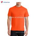 Personalizadas de alta calidad promocionales de alta visibilidad Hi-Vis Full amarillo o naranja Poliéster Mesh Crew Neck T-Shirts para el trabajador