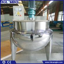 KUNBO 100L / 200L de Processamento de Alimentos Vapor Duplo Jacketed Cozinha Chaleira