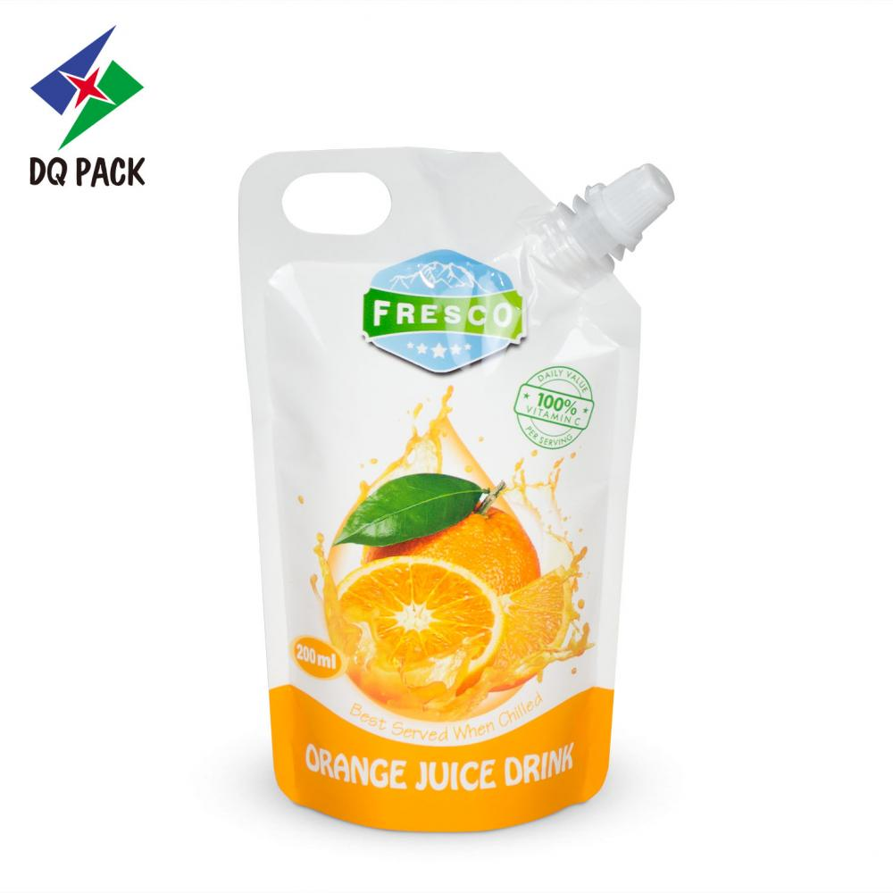 Doypack spout pouch for liquid packaging bag