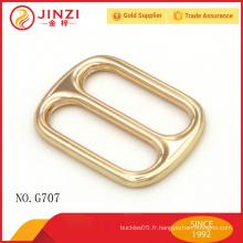 Boucles d'oreille en métal décoratif pour sacs à main