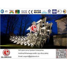 Globond Plus PVDF panel compuesto de aluminio (PF145)